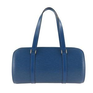 Louis Vuitton Handbag Blue Leather Shoulder Bag